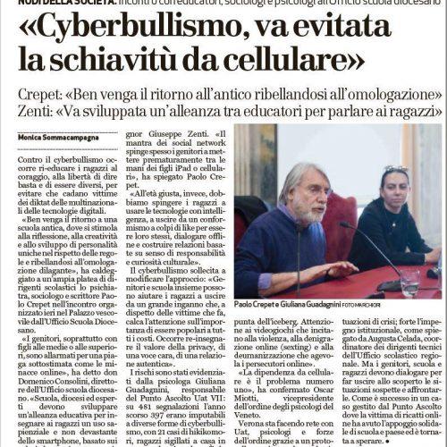 Cyberbullismo, va evitata la schiavitù da cellulare