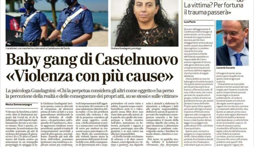 Baby Gang di Castelnuovo. Violenza con più cause.
